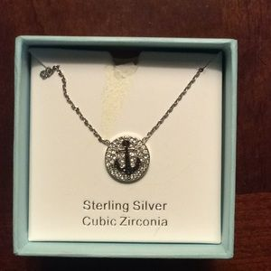Ruby and Emma sterling anchor necklace NWOT